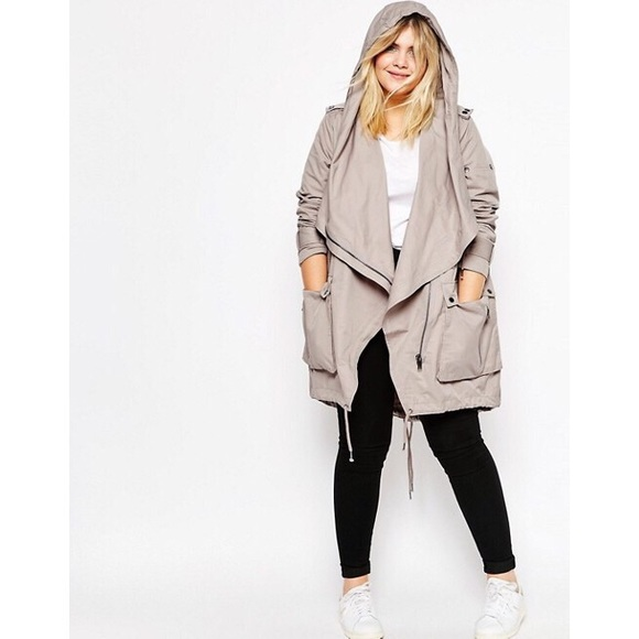 9d20e671e0cea ASOS Curve Jackets   Blazers - ASOS Curve Parka with Waterfall and Storm  Flap 18